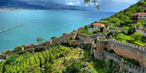 Turecko - Alanya, hradby