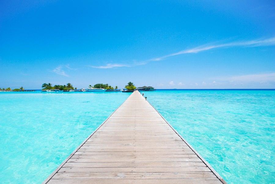 Maledivy, more, mólo